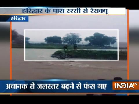 Youths saved in a rescue operation in Haridwar