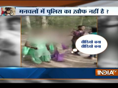 Fearless eve-teasers misbehaves with girls in Rampur, UP