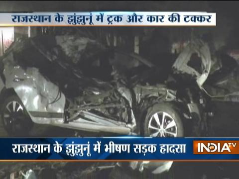 Speeding car collides with a truck in Rajasthan, 5 dead