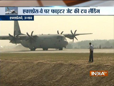17 Air Force planes land on Lucknow-Agra Expressway