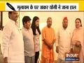 UP CM Yogi Adityanath meets SP leader Mulayam Singh Yadav at his residence