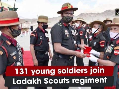 131 young soldiers join Ladakh Scouts regiment
