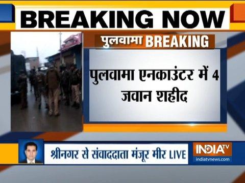 जम्मू-कश्मीर: पुलवामा में सुरक्षाबलों और आतंकियों के बीच मुठभेड़ जारी, मेजर समेत 4 जवान शहीद