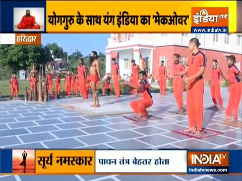 Dand baithak is very effective in increasing height, know the correct way from Swami Ramdev