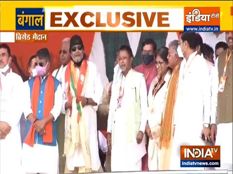 West Bengal Polls 2021:  मिथुन चक्रवर्ती बीजेपी में शामिल
