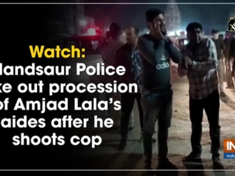 Watch: Mandsaur Police take out procession of Amjad Lala's aides after he shoots cop