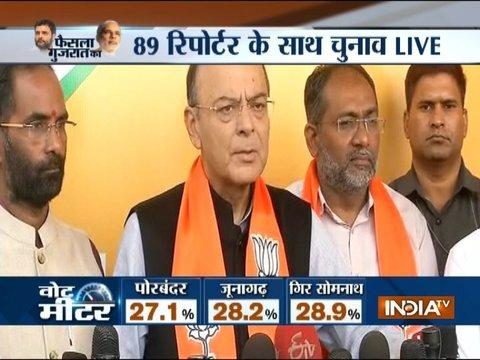 This will be a landslide victory for BJP and the win will be resounding: Arun Jaitley on Gujarat Polls