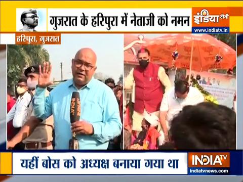 गुजरात के हरिपुरा में नेताजी को नमन