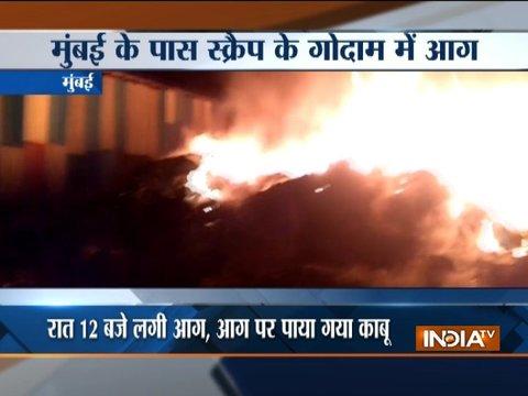 Mumbai scrap godown gutted in fire