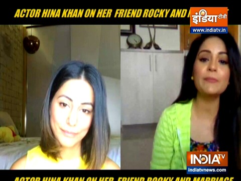 Hina Khan opens up on marriage plans with boyfriend Rocky Jaiswal