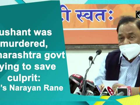 Sushant was murdered, Maharashtra govt trying to save culprit: BJP's Narayan Rane
