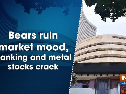 Bears ruin market mood, banking and metal stocks crack