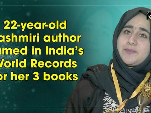 22-year-old Kashmiri author named in India's World Records for her 3 books