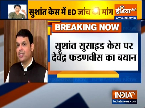 Devendra Fadnavis requests ED to probe misappropriation of funds in Sushant's case