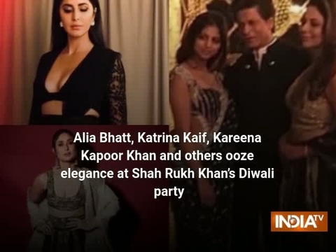 Alia Bhatt, Katrina Kaif, Kareena Kapoor Khan and others ooze elegance at SRK's Diwali party