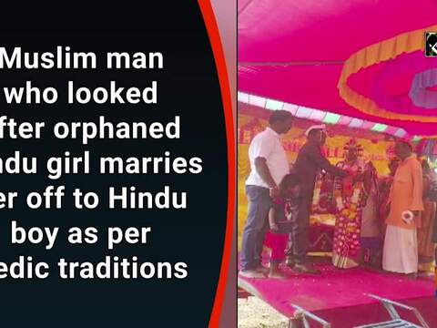 Muslim man who looked after orphaned Hindu girl marries her off to Hindu boy as per Vedic traditions