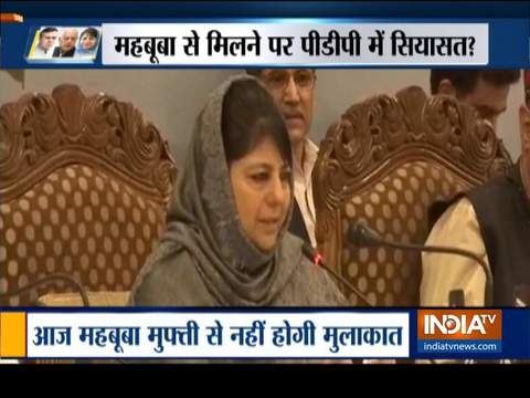 15-member PDP delegation not to meet Mehbooba Mufti today