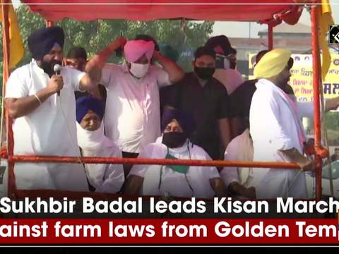 Sukhbir Badal leads Kisan March against farm laws from Golden Temple