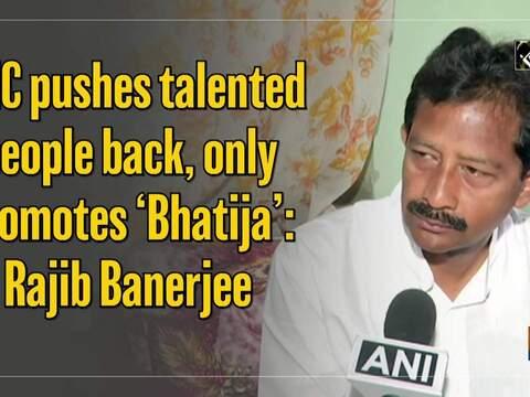 TMC pushes talented people back, only promotes 'Bhatija': Rajib Banerjee