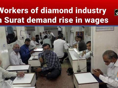 Workers of diamond industry in Surat demand rise in wages