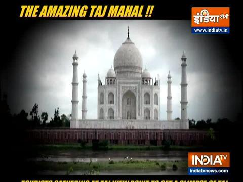 Tourists flock to View Point to get a glimpse of Taj Mahal