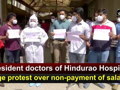 Resident doctors of Hindurao Hospital stage protest over non-payment of salaries
