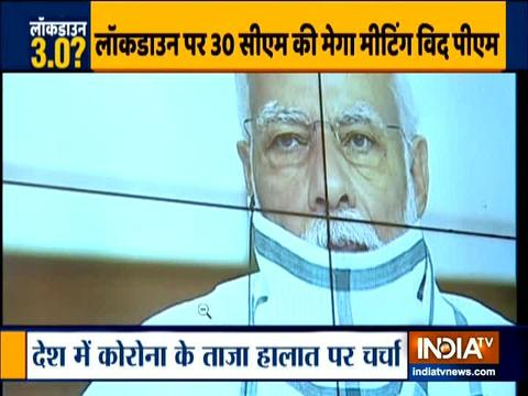 PM Modi holds meeting with CMs over COVID-19 crisis