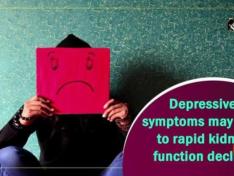 Depressive symptoms may lead to rapid kidney function decline