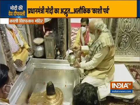 PM Modi offers prayers at Kashi Vishwanath temple in Varanasi