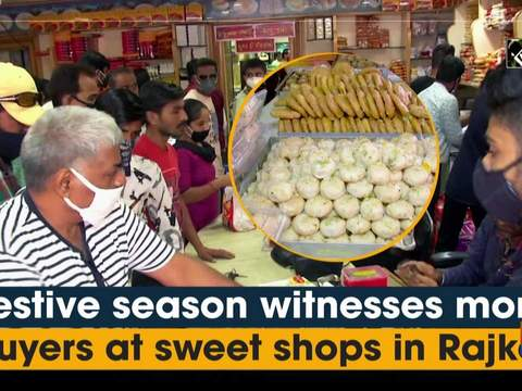 Festive season witnesses more buyers at sweet shops in Rajkot