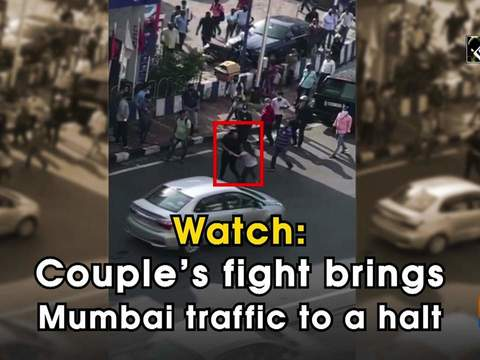 Watch: Couple's fight brings Mumbai traffic to a halt