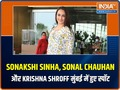 Celebs out and about: Sonakshi Sinha, Sonal Chauhan and Krishna Shroff spotted