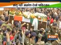 Mortal remains of martyr Major Chitresh Singh Bisht brought to his residence in Dehradun
