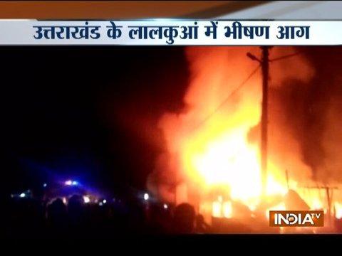 Fire breaks out in Lal Kuan area of Uttarakhand, several shops gutted