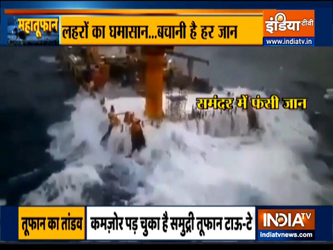 Cyclone Tauktae: Navy, Coast Guard rescue 314 people from two barges