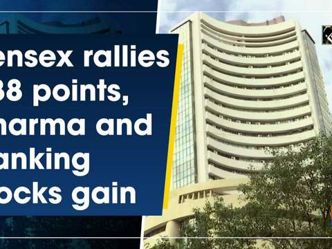 Sensex rallies 288 points, pharma and banking stocks gain