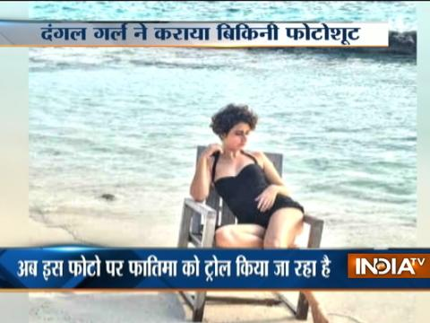 Actress Fatima Sana Shaikh trolled on social media for wearing swimsuit during Ramzan