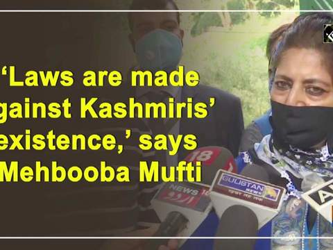 'Laws are made against Kashmiris' existence,' says Mehbooba Mufti