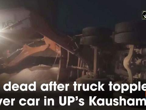 8 dead after truck topples over car in UP's Kaushambi
