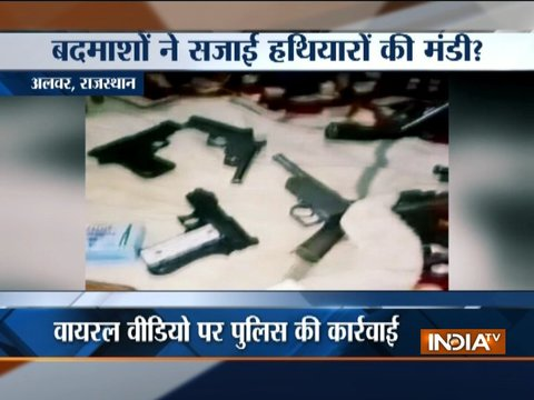 Caught on camera: Miscreants brandish guns in Alwar, one held