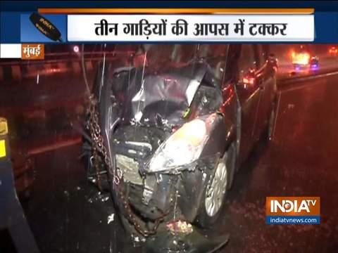 मुंबई में अंधेरी फ्लाईओवर पर सड़क दुर्घटना में पांच घायल