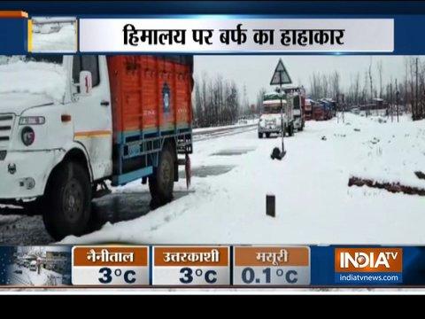 जम्मू-कश्मीर और हिमाचल प्रदेश में भारी बर्फबारी
