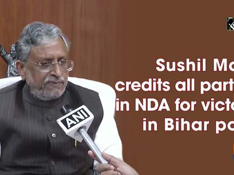 Sushil Modi credits all parties in NDA for victory in Bihar polls