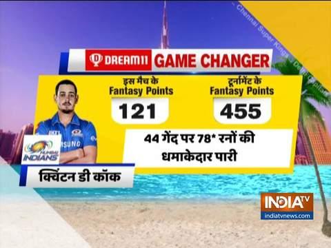 आईपीएल 2020: क्विंटन डिकॉक की नाबाद अर्द्धशतकीय पारी से मुंबई ने केकेआर पर दर्ज की 8 विकेट से आसान जीत