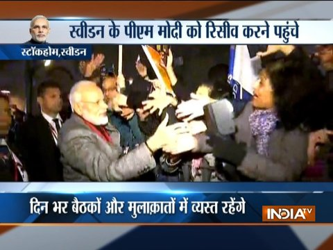 PM Modi reaches Sweden, receives grand welcome at Stockholm Airport