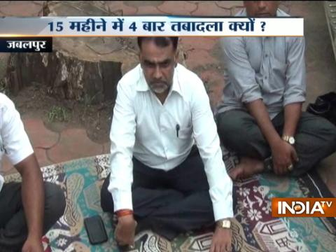Judge sits on dharna outside Jabalpur High Court after being transferred 4 times in last 15 months