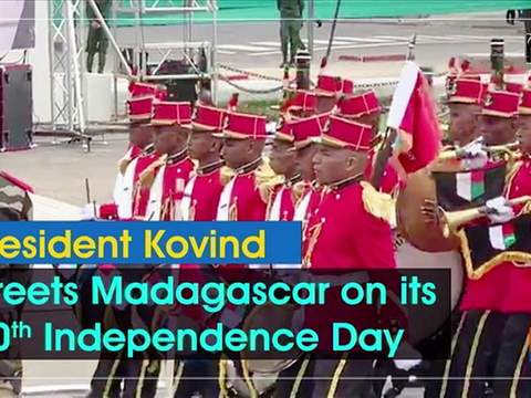 President Kovind greets Madagascar on its 60th Independence Day