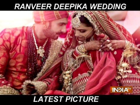 देखिये दीपिका-रणवीर के शादी की पहली तस्वीरें