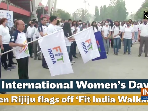 International Women's Day: Kiren Rijiju flags off 'Fit India Walkathon'