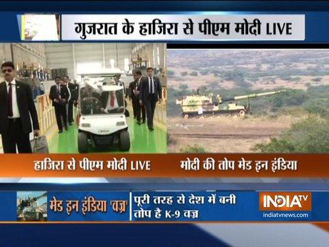 पीएम मोदी ने सेना को सौंपा पूरी तरह से देश में बनी तोप K-9 वज्र
